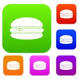 Burger set color collection Stock Photography