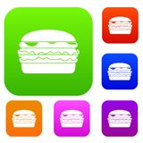 Burger set color collection Stock Image