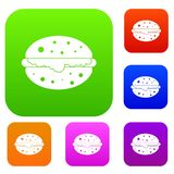 Burger set color collection Royalty Free Stock Images