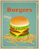 Burger Sign Stock Images