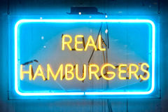 Burger Sign Stock Image