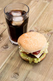 Burger with Softdrink Stock Image