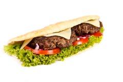 Burger sub. On white background Stock Image
