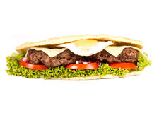 Burger sub royalty free stock photo