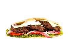 Burger sub. On white background Royalty Free Stock Photography
