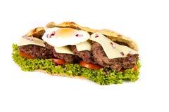 Burger sub. On white background Royalty Free Stock Photos