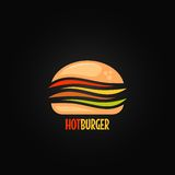 Burger symbol hamburger icon design background Royalty Free Stock Photos