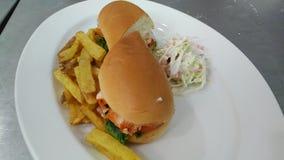 burger tandori τρώει καλά την άδεια καλά Στοκ Φωτογραφίες