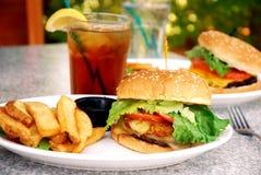 burger teriyaki Στοκ Φωτογραφίες