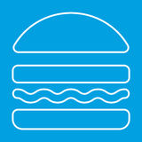 Burger thin line icon. For web and mobile devices Stock Image