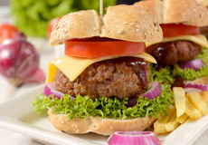 Burger time Royalty Free Stock Images