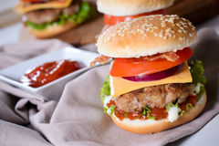 Burger time Royalty Free Stock Photography