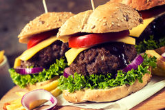 Burger time Stock Images