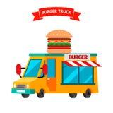 Burger truck. Food truck. Stock Photography