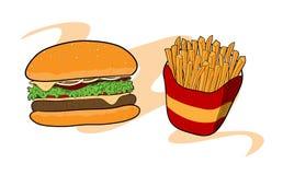 Burger u Stockfoto