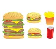 Burger und Chips Lizenzfreies Stockbild