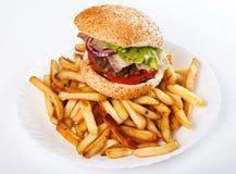 Burger und Fischrogen lizenzfreie stockfotos