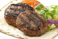 Burger und Pittabrot Lizenzfreie Stockfotografie