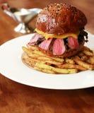 Burger und Pommes-Frites Lizenzfreie Stockfotografie