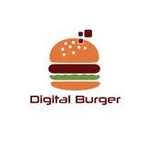 Burger vector design template Royalty Free Stock Photo