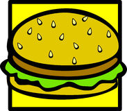 Burger vector illustration. Vector illustration of a burger Royalty Free Stock Image