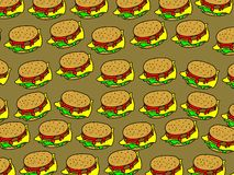 Burger wallpaper Royalty Free Stock Image
