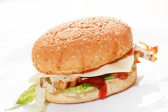 Burger on the white Stock Photography