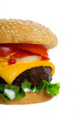 Burger on white Stock Images