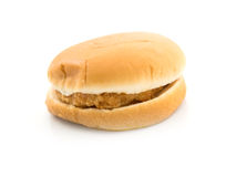A Burger  on white Stock Photography