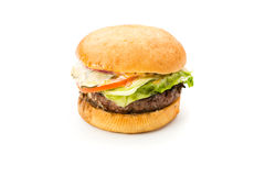 Burger on white background Royalty Free Stock Image
