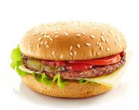 Burger on a white background Stock Photography