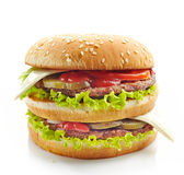 Burger on a white background Royalty Free Stock Photos