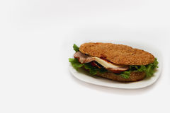 Burger on a white background Royalty Free Stock Images
