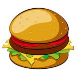 Burger. On white background. Vector illustration. Clip-art Stock Photos
