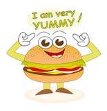 burger yummy Στοκ φωτογραφία με δικαίωμα ελεύθερης χρήσης