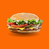 Burger zoom out Royalty Free Stock Photo
