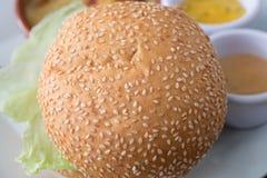 Burgerbrot Stockfoto