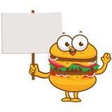 Burgercharakter, der leeres Zeichen hält Lizenzfreies Stockbild