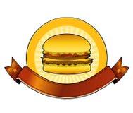 Burgergaststätte Fahne Stockbild