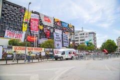 Burgerlijke protesten in Turkije Royalty-vrije Stock Foto's