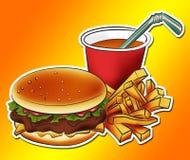 Burgermahlzeit Stockbild
