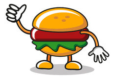 Burgermaskottchen stock abbildung