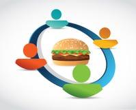 Burgernetz-Konzeptillustration Stockfoto