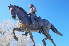 Burgeroorlog Algemeen op Horseback Stock Foto