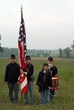 Burgeroorlog Reenactors Stock Foto's