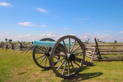 Burgeroorlogkanon in Gettysburg, Pennsylvania stock foto