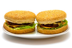 Burgers Royalty Free Stock Photos