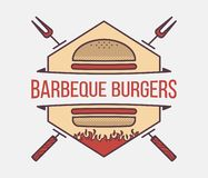 Burgers barbeque vector illustration. Burgers barbeque is a vector illustration about street food stock illustration
