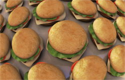 Burgers Royalty Free Stock Photo