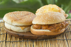 Burgers with Drink Royalty Free Stock Photo
